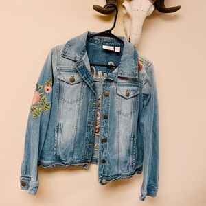 Chico's Embroidered Denim Jacket